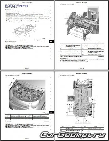 Кузовные размеры Nissan Pixo (Suzuki Alto) 2009-2015 Body Repair Manual