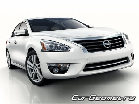 Nissan Altima (L33) 2013-2018 (Nissan Teana L33 Japan) Body dimensions