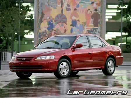 Honda Accord (CG) USA 1998–2002 (Sedan, Coupe) Body Repair Manual