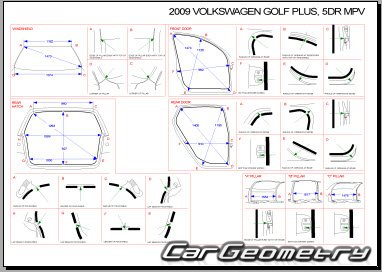 Volkswagen Golf Plus 2005-2014 Body dimensions