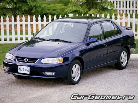 Toyota Corolla (ZZE110) 1998-2002 USA Collision Repair Manual