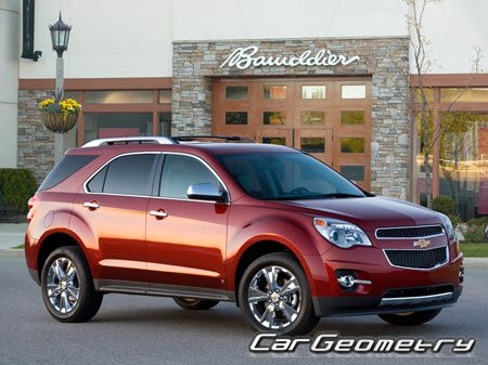 Chevrolet Equinox II 2010–2015 Body dimensions