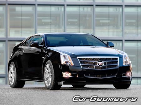 Размеры кузова Cadillac CTS Coupe 2011–2013