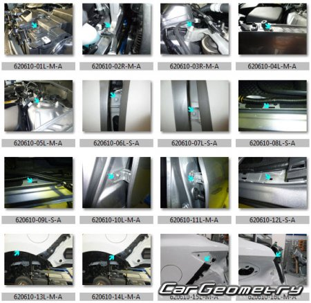 Кузовные размеры Scion iA (DJ) 2016-2017 Sedan Body dimensions