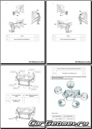 Lexus RC300h (AVC10) 2015-2021 Collision shop manual