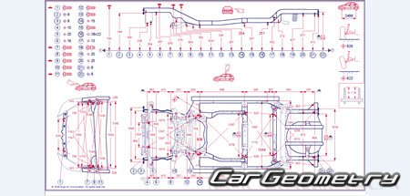 Honda JAZZ (GE, GG) 2009-2014 Body Dimension