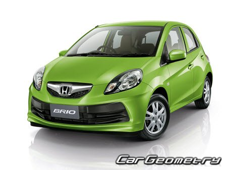 Honda Brio 2012-2018 (Sedan, Hatchback) Body Dimension