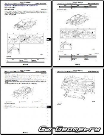 Кузовные размеры Infiniti QX30 (H15) 2016-2023 Body Repair Manual
