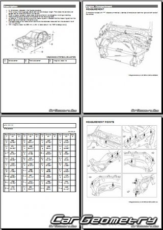 Размеры кузова Nissan Armada (Y62) 2017-2023 Body Repair Manual