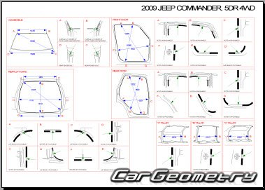 Jeep Commander (XK) 2006–2010 Body repair manual