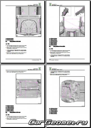 Размеры кузова Skoda Karoq 2017-2025 Body Repairs Manual
