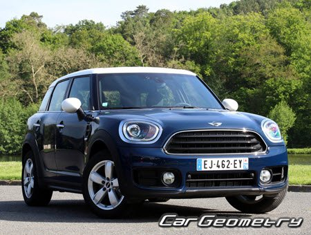 Кузовные размеры MINI Cooper Countryman (F60) 2017-2023, Размеры кузова Мини Купер Кантримен